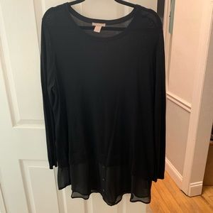 H&M Black Twofer Sweater XL